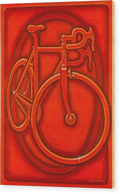 Bespoked In Orange  Wood Print