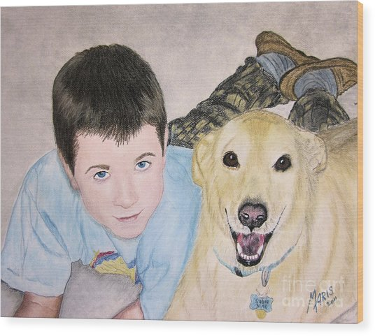 Best Buddies Wood Print
