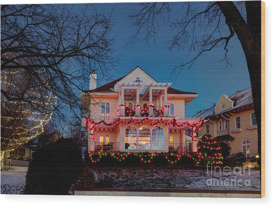 Best Christmas Lights Lake Of The Isles Minneapolis Wood Print