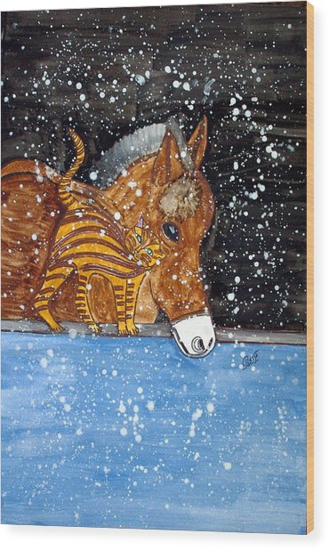 Best Friends. Wood Print by Patricia Fragola