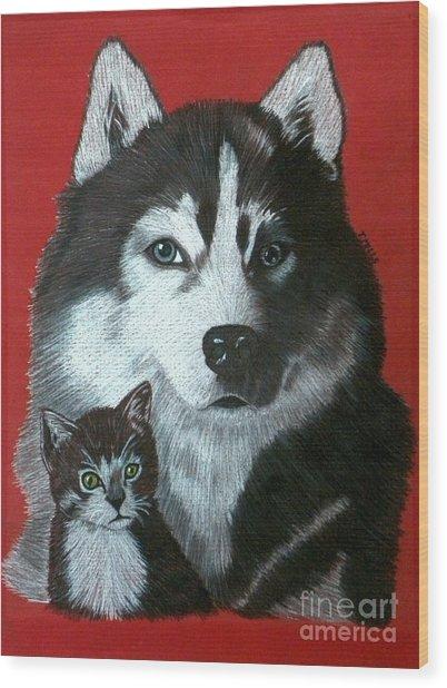Best Friends Wood Print by Terri Mills