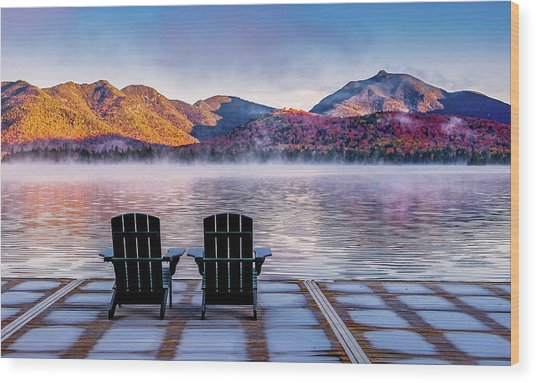 Best Seats In The Adirondacks Wood Print