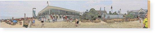 Bethany Beach Boardwalk Wood Print by Jeffrey Todd Moore