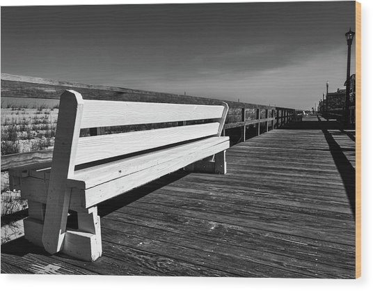 Bethany Beach Boardwalk Wood Print