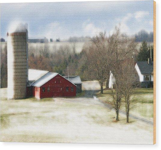 Bethel Barn Wood Print