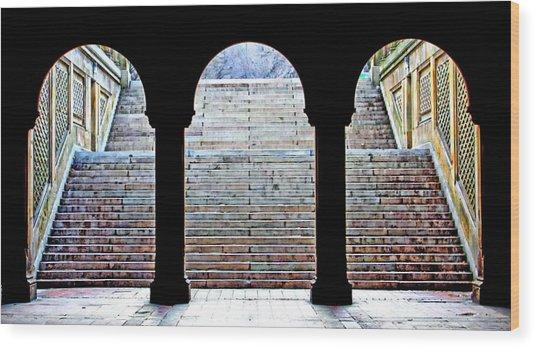Bethesda Terrace Arcade Wood Print