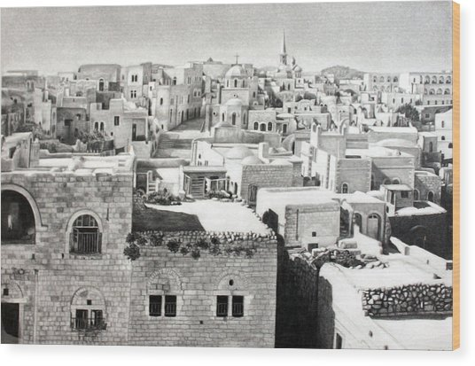 Bethlehem Old Town Wood Print
