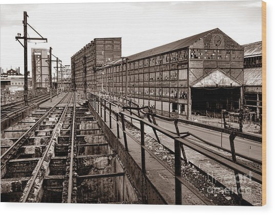 Bethlehem Steel Number Two Machine Shop Wood Print