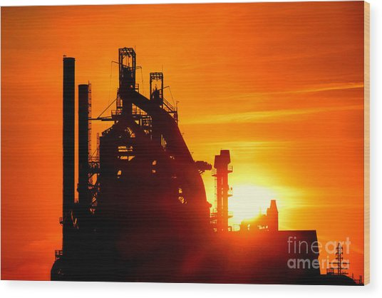 Bethlehem Sunset Wood Print