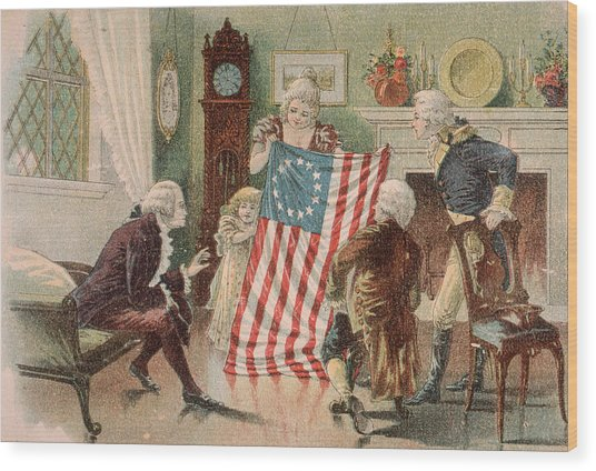 Betsy Ross And The Making Of America Wood Print