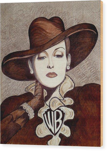 Bette Davis The Warner Brothers Years Wood Print