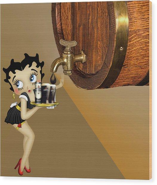 Betty Boop Serving Murphys Wood Print