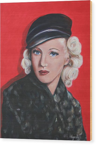 Betty Grable Wood Print by Dyanne Parker