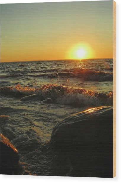 Between A Rock And A Sunny Place Wood Print by Peter Mowry