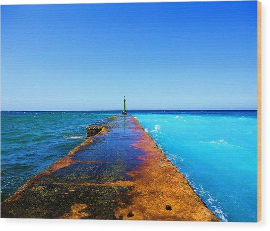 Between Ocean And The Sea Wood Print by Yury Bashkin