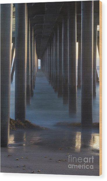Between The Pillars  Wood Print