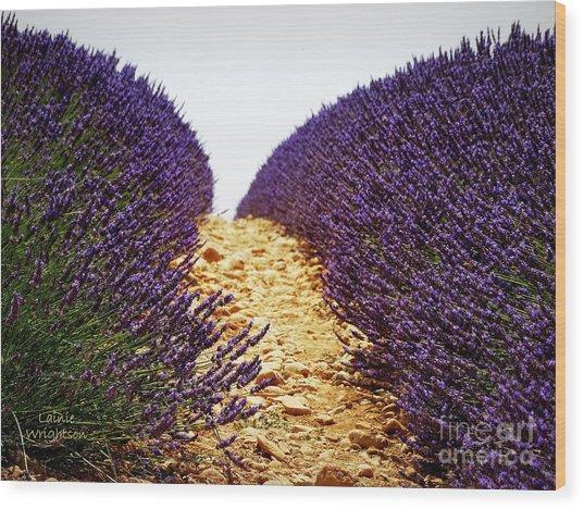 Between The Purple Wood Print