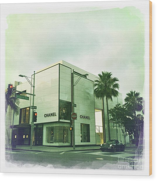 Beverly Hills Rodeo Drive 13 Wood Print