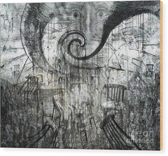 Beware Of Darkness Wood Print