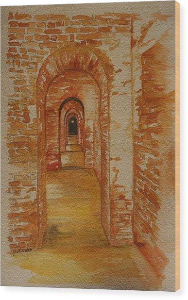 Beyond The Black Door Wood Print by Julie Lueders