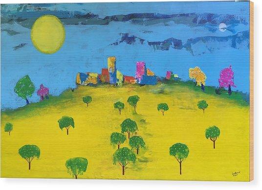 Beyond The Lemon Grove Wood Print