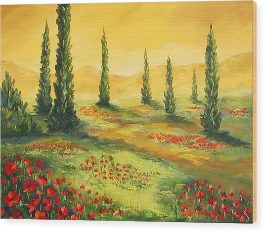 Beyond The Tuscan Sun  Wood Print by Torrie Smiley