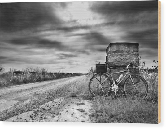 Bicycle Break Wood Print