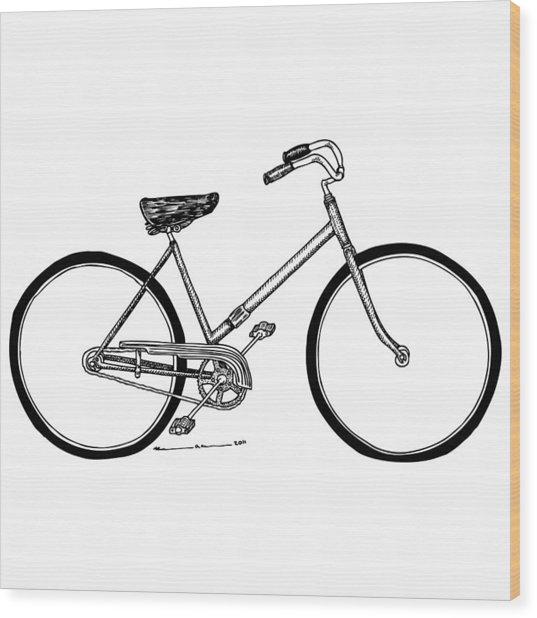 Bicycle Wood Print by Karl Addison