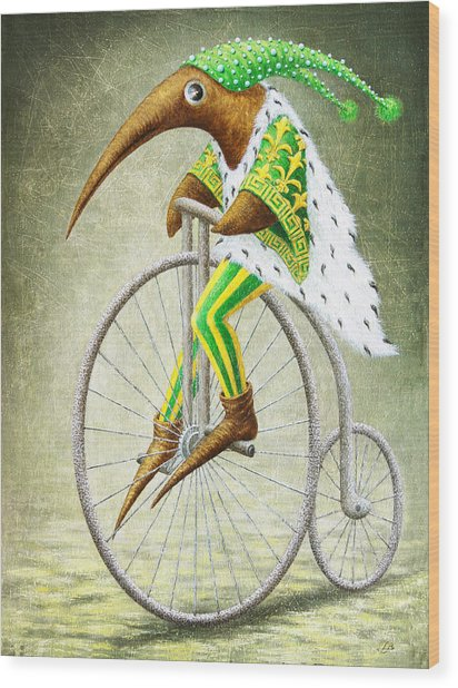 Bicycle Wood Print by Lolita Bronzini