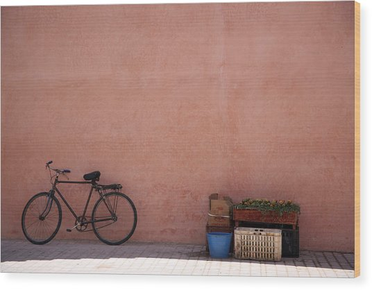 Bicycle Marrakech  Wood Print by Pauline Cutler