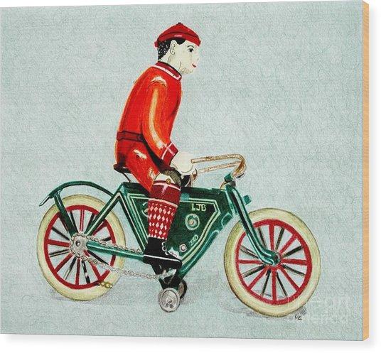 Bicycle Rider Wood Print