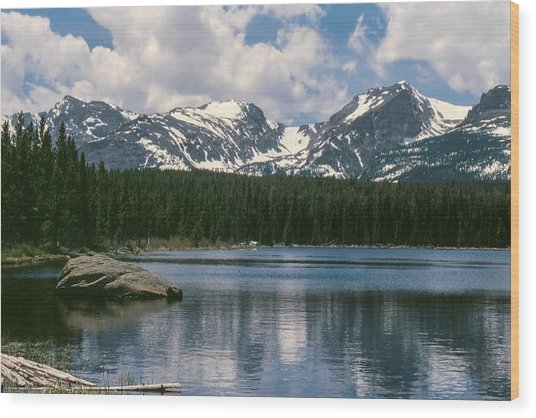 Bierstadt Lake Hallett And Otis Peaks Rocky  Mountain National Park Wood Print