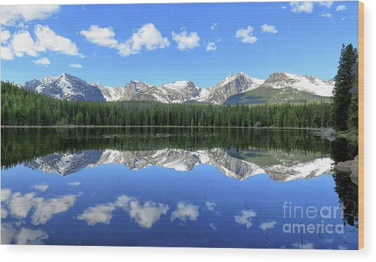 Bierstadt Lake In Rocky Mountain National Park Wood Print