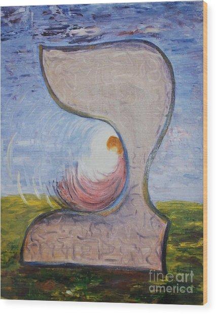 Biet - Meditation In Oil Wood Print