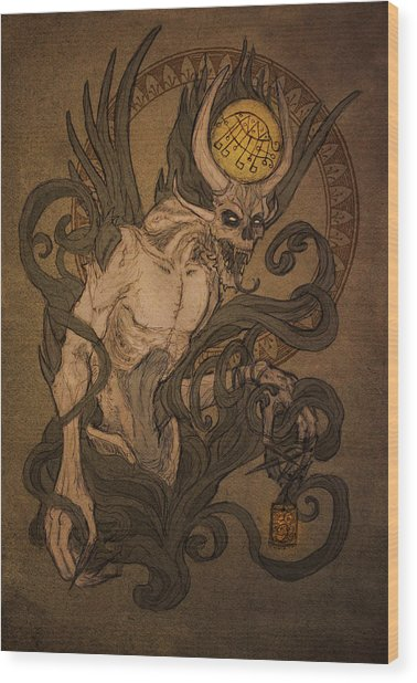 Demons Of Goetia - Bifrons Wood Print