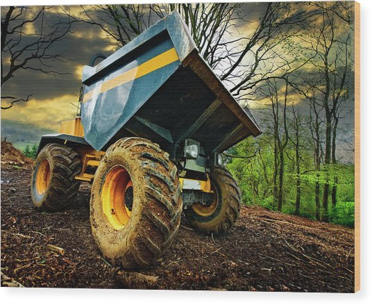 Big Bad Dumper Truck Wood Print
