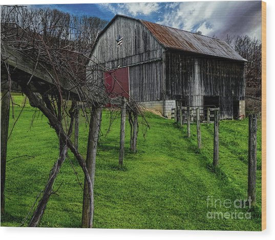 Big Barn Wood Print by Elijah Knight