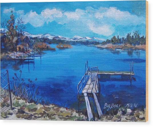 Big Bear Lake 1 Wood Print by Min Wang