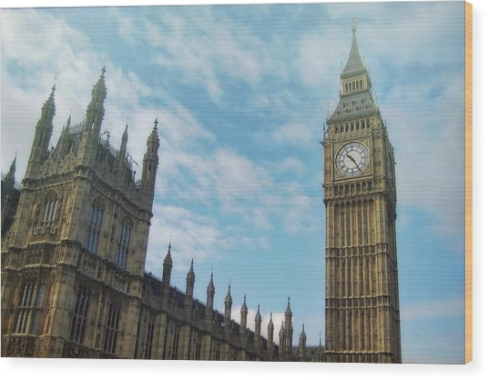 Big Ben Wood Print by JAMART Photography