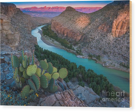 Big Bend Evening Wood Print