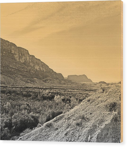 Big Bend Natinal Park At Sunset Wood Print