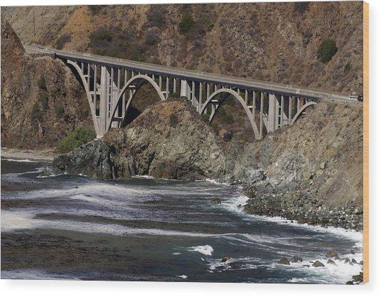 big creek Bridge Wood Print