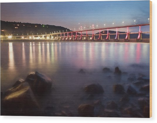 Big Dam Bridge Wood Print
