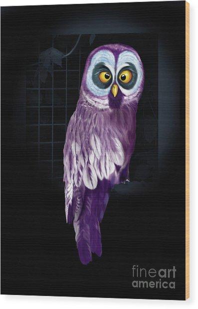 Big Eyed Owl Wood Print