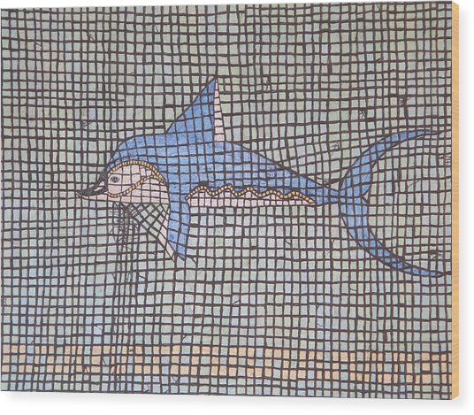 Big Fin Wood Print by Tracy Fetter