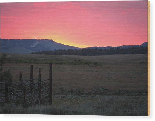 Big Horn Sunrise Wood Print
