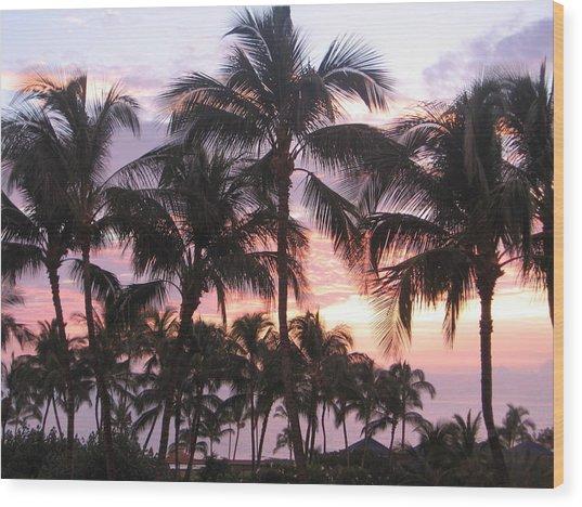 Big Island Sunset 3 Wood Print