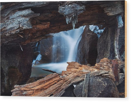 Big Pine Creek Wood Print by Nolan Nitschke