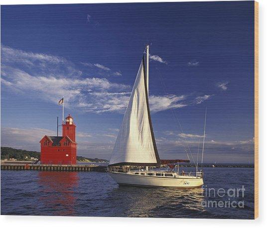 Big Red - Fm000060 Wood Print