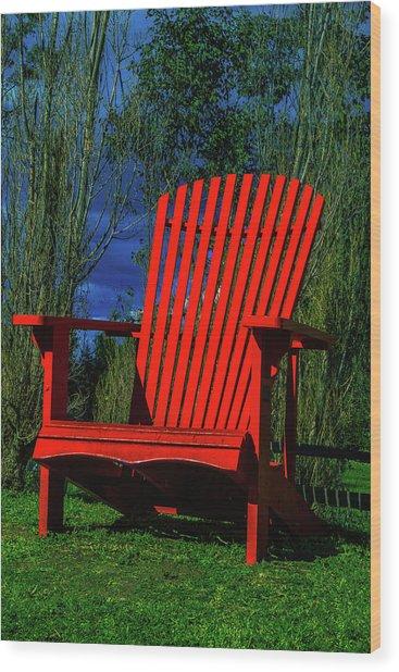 Big Red Chair Wood Print